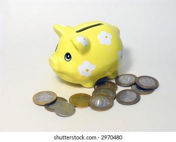 Pig a coin box