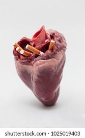 Pig hearts,Cigarettes do health stores.
