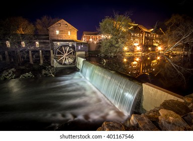 Pigeon Forge, Tennessee, USA. March 26, 2016-   The Old Mill in Pigeon Forge, Tennessee has been in operation since 1830. It remains in operation and is currently a restaurant and popular tourist site