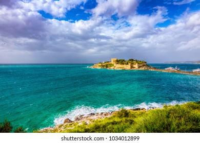 Pigeon Island in Kusadasi, Turkey