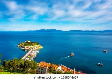 Pigeon Island view in Kusadasi Town of Turkey