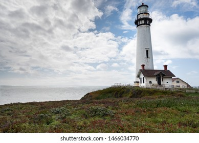 Pigeon Point Lighthouse is a lighthouse built in 1871 to guide ships on the Pacific coast of California. It is located on the coastal highway 1 near Pescadero, between Santa Cruz and San Francisco.