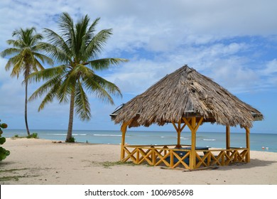 Pigeon Point. Most famous beach at Tobago
