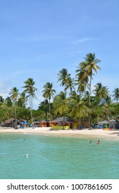 Pigeon Point. the most popular beach at Tobago