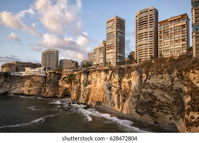 From the Pigeon Rock in Beirut, Lebanon