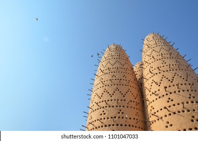 Pigeon Towers, traditional islamic architecture, in Katara cultural Village, Doha Qatar.