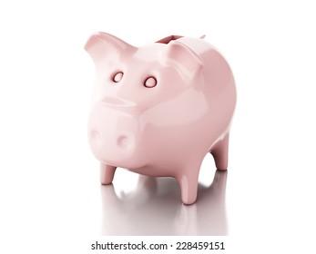 Piggy bank. 3d illustration