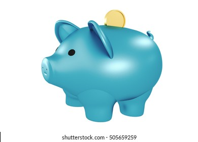 piggy bank, 3d illustration