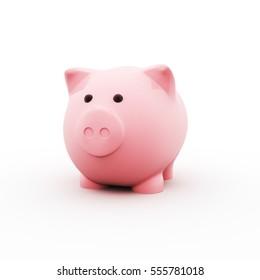 Piggy bank. 3D Illustration.