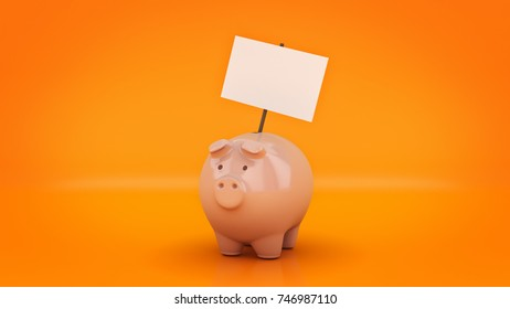 Piggy Bank. 3D rendering