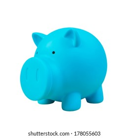 Piggy bank, green color on white background
