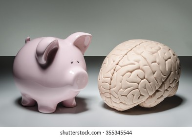 Piggy bank and human brain