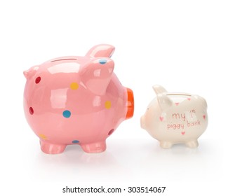 Piggy bank  isolated on white background. This has clipping path.