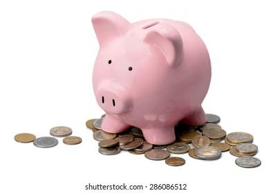 Piggy, bank, money.