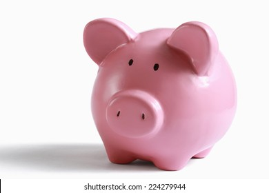 Piggy bank money box isolated on a white background.