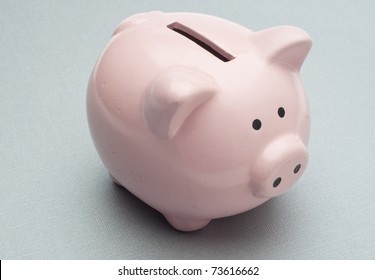 Piggy Bank on Silver Background without Money.