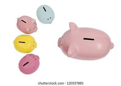 Piggy Bank Parent Talks to Kids