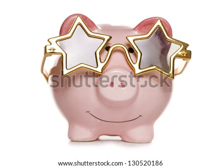 piggy bank with star