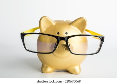 Piggy bank wear Glasses for your design and add your information.