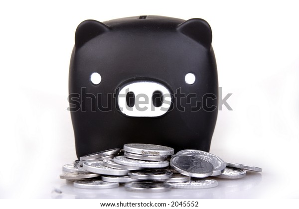 Piggy bank in white background.