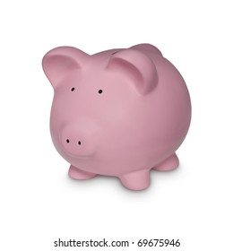 Piggy in Gold Symbol for Financial Concepts