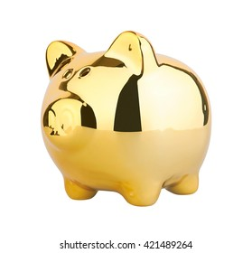 Piggy Money Box, isolated on white background
