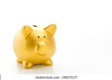 Piggybank isolated on white background