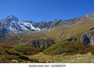 The Pigne de la Le and the Aiguilles de la Le, in the Val d'Anniviers above Zinal in the Southern Swiss Alps