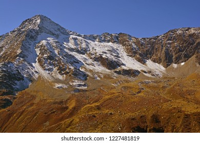 The Pigne de la Le in the Val d'Anniviers above Zinal in the Southern Swiss Alps