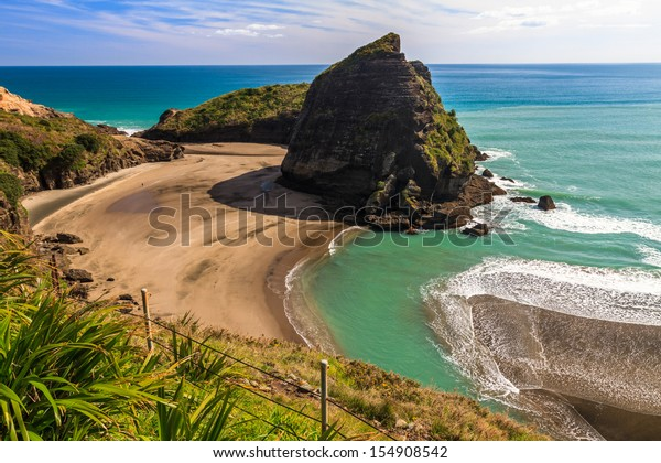 Piha Beach on the West Coast of the North Island, Auckland, New Zealand