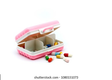 Piill capsules , Pill Box for polypharmacy patients,Large pill box for individual weekly pill storage