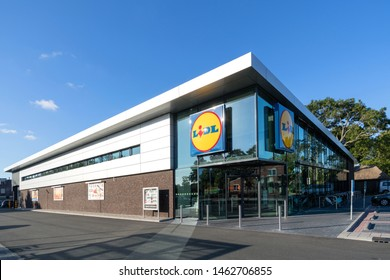 PIJNACKER, THE NETHERLANDS - JULY 2, 2019: Lidl branch. Lidl is the largest discount supermarket chain in Europe.
