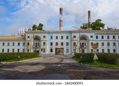 PIKALEVO, RUSSIA - SEPTEMBER 12, 2020: Checkpoint on Pikalevo Alumina Refinery on a September afternoon