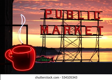 Pike Place Signage