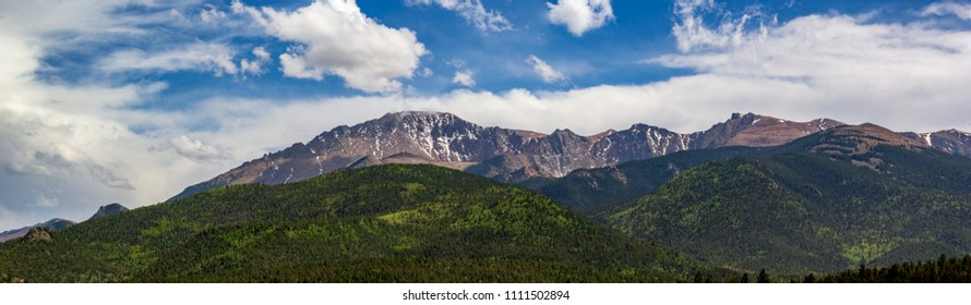 Pikes Peak HDR Panoramic from summit descent