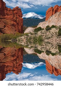 Pikes Peak Reflection at the Garden of the Gods