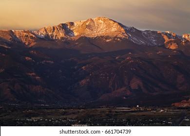 Pike's Peak at Sunrise - Purple Mountain Majesty