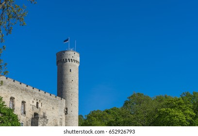 Pikk Hermann or Tall Hermann tower of the Toompea Castle, in old Tallinn, the capital of Estonia