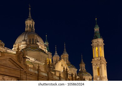 The Pilar basilica, Zaragoza, Spain