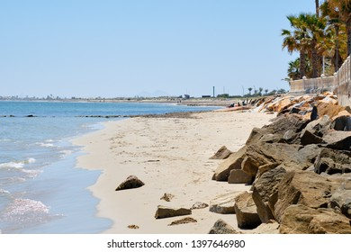 Pilar de la Horadada sandy beach town and district in the Province of Alicante south-east of Spain, Costa Blanca