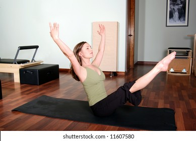 Pilates Floor Pose by Professional Instructor