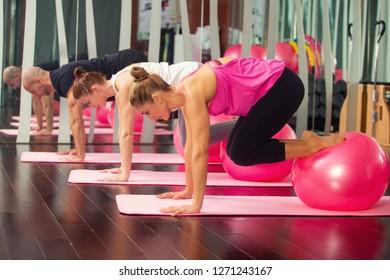 Pilates indoor training - fitness