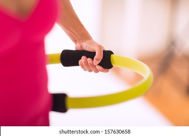 Pilates ring closeup
