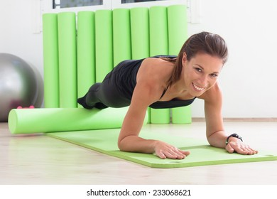 pilates training with roller