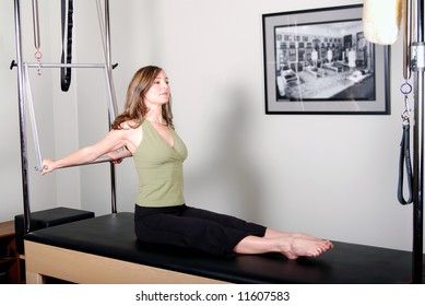 Pilates Work on Trapeze Table - Cadillac Convertible