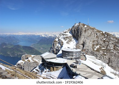 Pilatus Mountain in Swiss Alps,  observation, trip to the Top of Pilatus