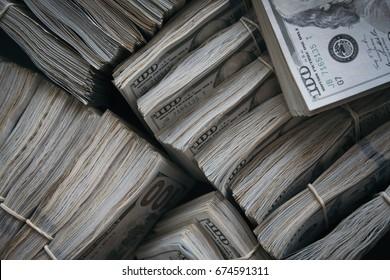 Pile of 100 bills
