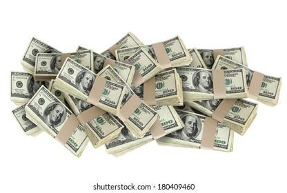 Pile of 100 Dollar Bills