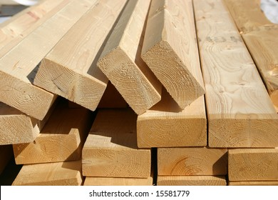 Pile of 2x4 studs for new home construction