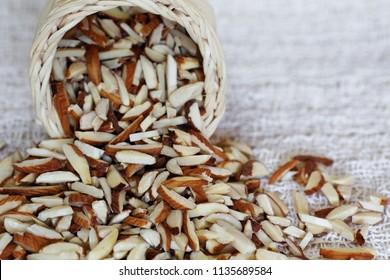 Pile of Almond sticks.